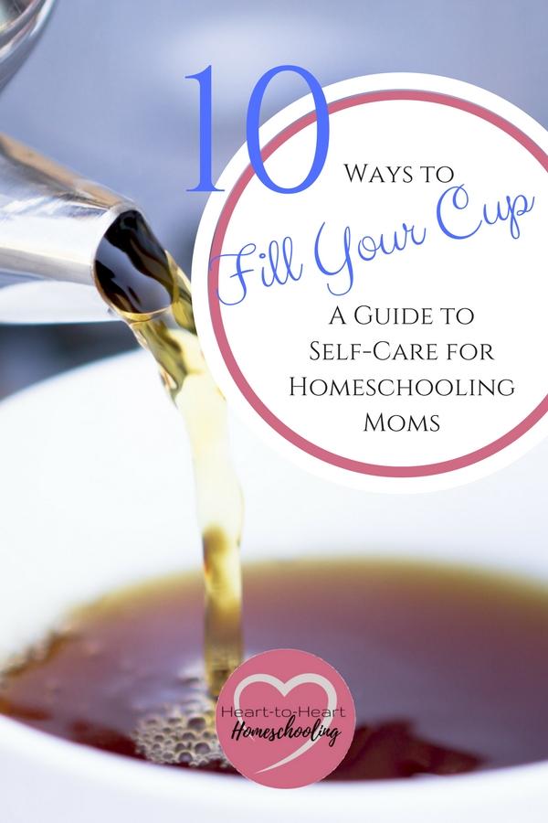 self-care, homeschooling, mom