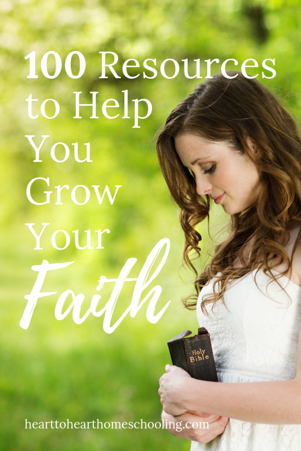I think it's acommon desire among Christians—to grow and mature in our faith. But sometimes as homeschooling moms we don't know where to start or even how to keep going. But there are so many resources to help you grow your faith!#faith #homeschool | grow your faith | grow your faith ideas | grow your faith children | grow your faith relationships | grow your faith Bible Studies | Bible studies | Bible for women