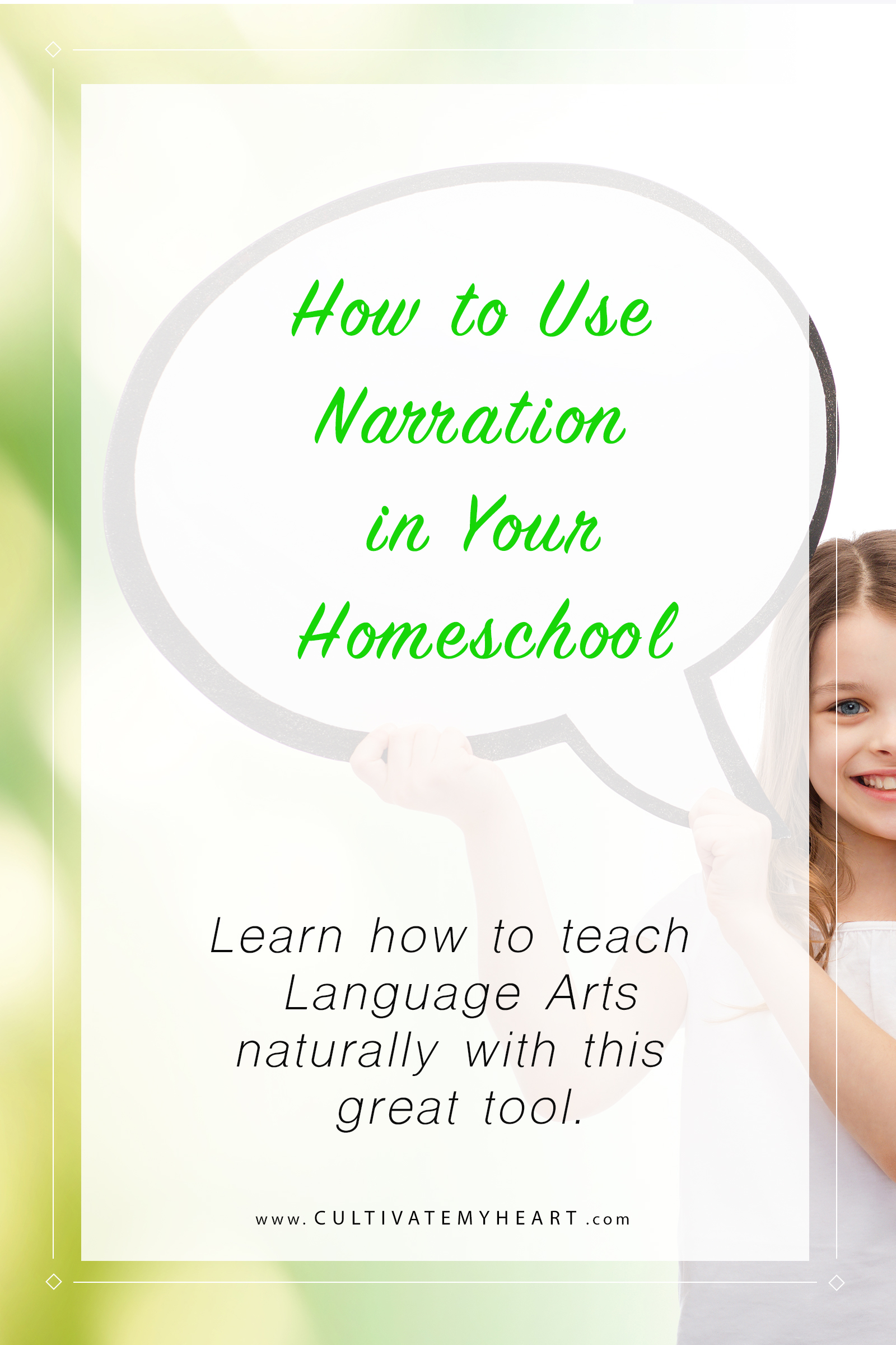 How can you teach Language Arts naturally in your homeschool? By using tools like narration. Learn how as you explore the benefits of this simple, but effective learning method.