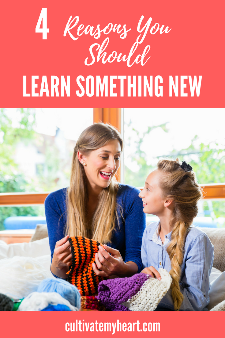As homeschooling moms we can spend so much time focusing on our family that we neglect ourselves. But don't! Self-care is important and it can be beneficial for both you and your children. Keep learning to benefit you both. Discover 4 reasons you should learn something new.