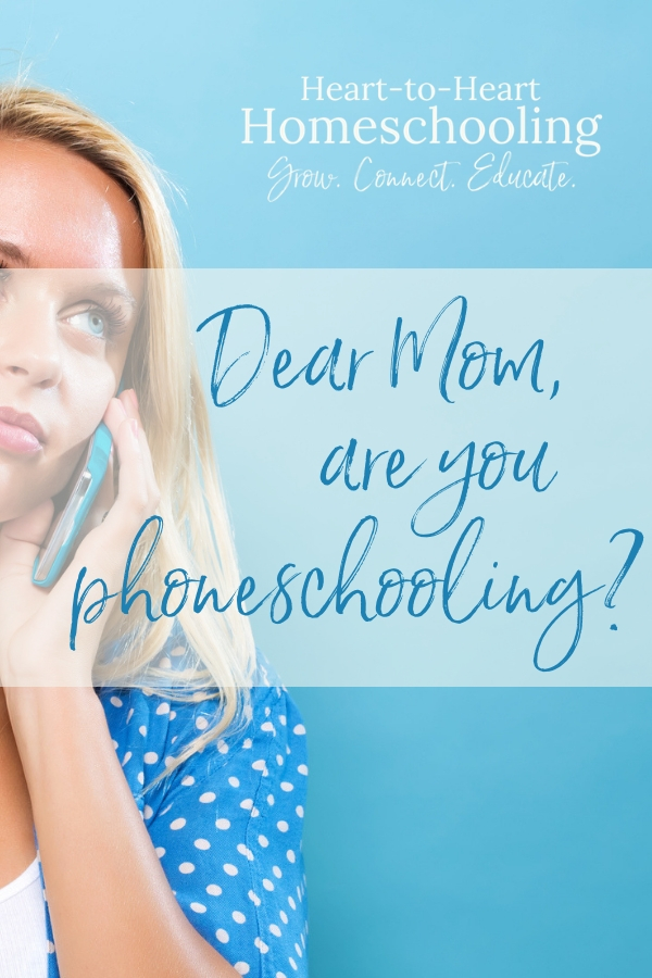 Do you find yourself distracted while homeschooling? Learn how you can focus on what matters most. #homeschool #homeschooling | parenting | parenting tips | parenting advice | distraction parents | distraction | relationship distraction | cell phones and relationships | homeschool distraction | family