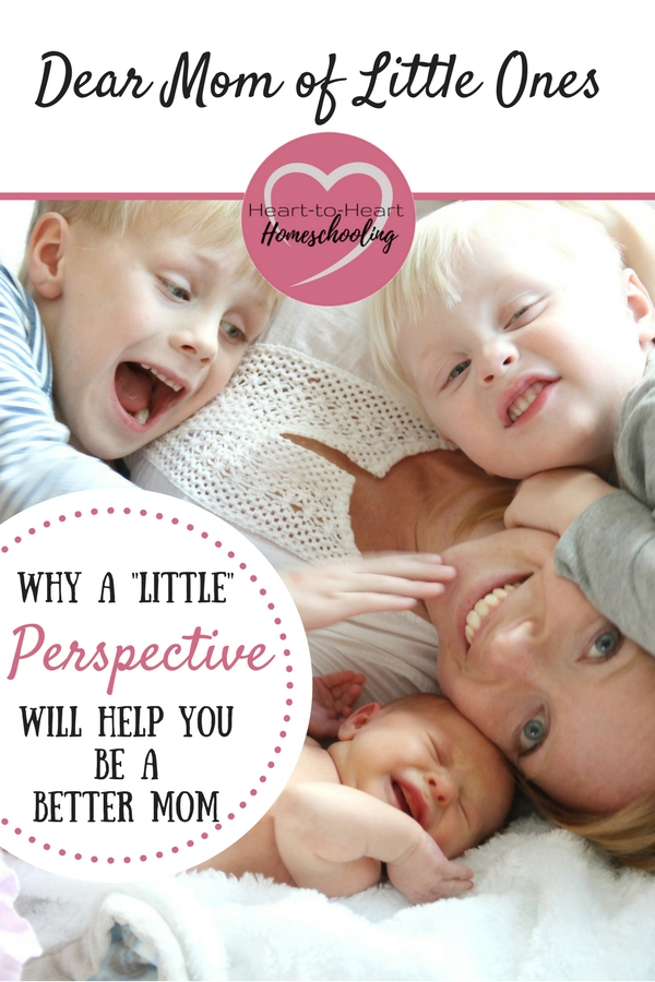 Parenting toddlers and young children can be hard! What advice would I give to moms of little ones now that my kids are older? Simply this: a little perspective will help you to be a better mom. It is the little things that make the biggest difference in your children's lives.