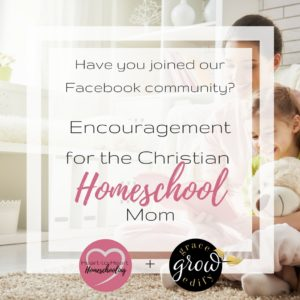 Encouragement for the Christian Homeschool Mom