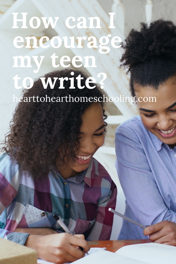 Do you have reluctant teen writers? Are they intimidated by a blank sheet of paper? Don't worry! Encourage your teens to write with these 4 simple strategies. #homeschooling #homeschool | homeschooling middle school | homeschooling high school |  homeschooling teens ideas | homeschooling high school ideas | homeschooling high school tips | teaching writing