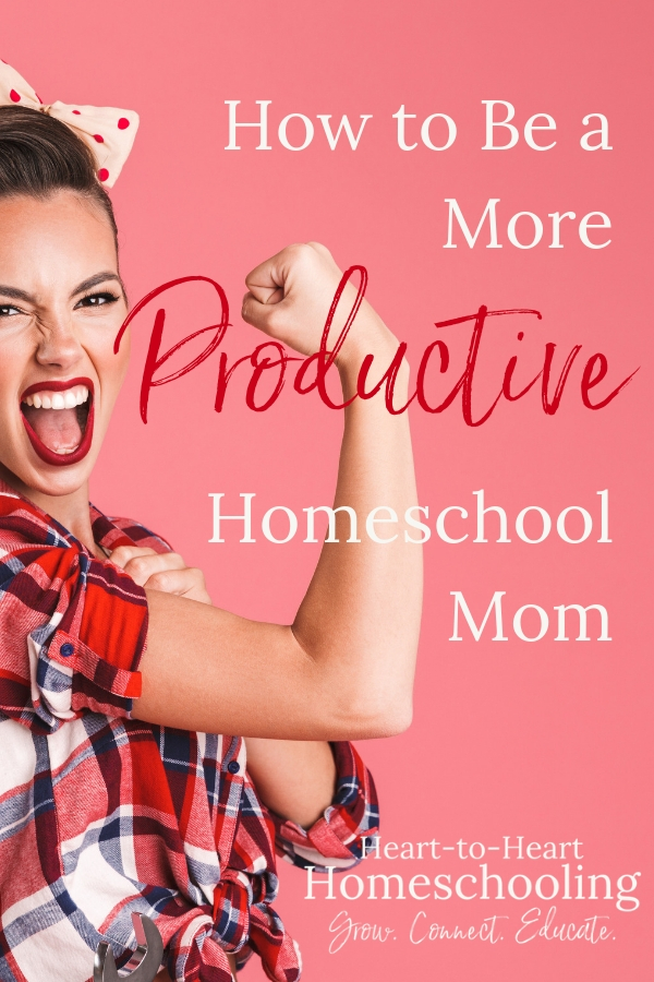 Do you feel like there just aren't enough hours in the day to do all that you need to do? Learn how you can become a more productive homeschool mom. #homeschool #homeschooling #productivity | homeschool | homeschooling | productivity tips | productivity hacks | homeschool planning | homeschool routine | homeschool mom | homeschool how to | homeschool tips