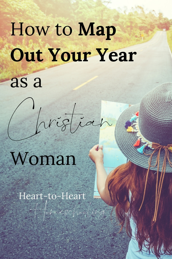 Setting goals for our year helps us to be more intentional with our lives. But what does it look like as a Christian woman to set goals? #goals #homeschool | goals personal | goal setting | homeschool planning | homeschool goals | homeschool Christian | homeschool Christian mom