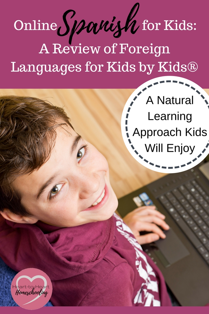 Want to teach your children a foreign language? Foreign Languages for Kids by Kids® uses a natural approach that is both fun and engaging.  Their online Spanish for kids will help you homeschool Spanish even if you don't have any experience.