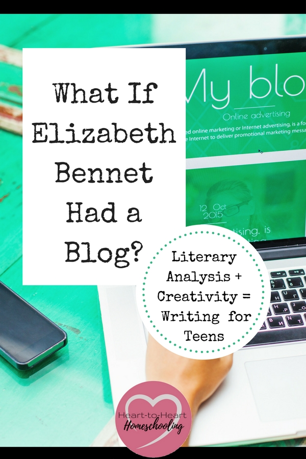 An assignment that helps teens combine literary analysis, academic, and creative writing—because blogs are simply essays in disguise. #teachingwriting #homeschoolingteens | Writing | Teens | Literary Analysis | Creative Writing | Homeschool | Homeschooling | Teaching Writing | Writing Lesson