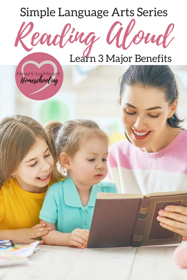 Homeschoolers seem to be obsessed with reading aloud. But how beneficial is simply reading books with your kids? Actually there are three major benefits that you may not have ever thought of. #homeschooling #homeschool #reading aloud • homeschool •  homeschooling • reading aloud • homeschool curriculum • reading • natural learning methods • reading to kids