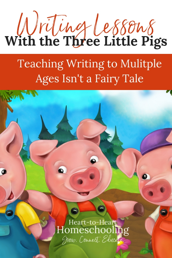 Fun writing assignment for your kids of all ages with the Three Little Pigs. #homeschool | homeschool | homeschooling | teaching writing | teaching writing elementary | teaching writing middle school | teaching writing high school | homeschool writing | homeschool writing for kids | homeschool writing for teens | brave writer | brave writer | brave writer writing projects | brave writer homeschool
