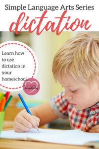 homeschool, dictation