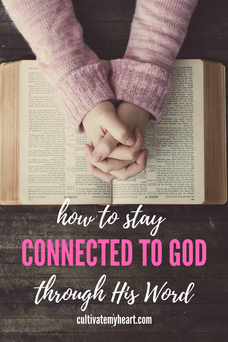 As a busy mom, it is easy not to take time for yourself. But we need time to fill up ourselves with the Scripture if we want to give to our children daily. How can a busy mom stay connected to God through His Word? How can she find time to read the Bible?