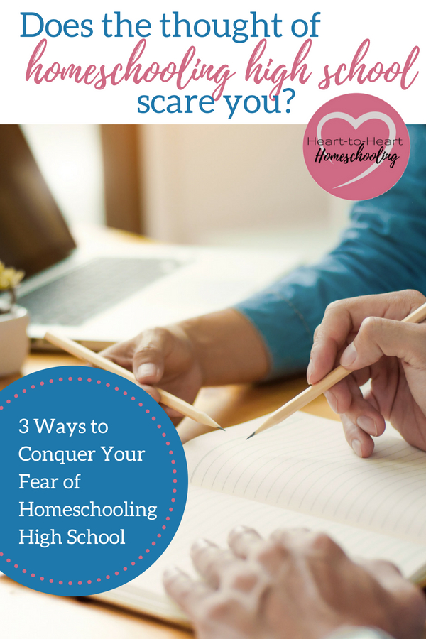 You don't have to fear homeschooling high school! Instead you can confidently guide your homeschooling teen through their high school years.  #homeschool #homeschooling • homeschool high school • how to homeschool high school • homeschooling high school • homeschool encouragement