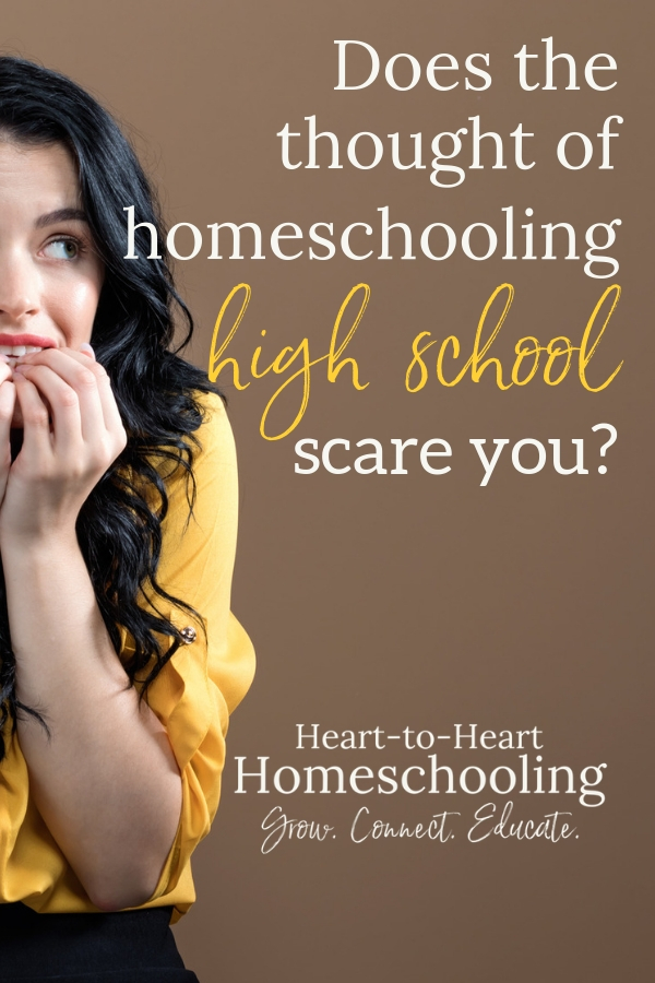 You don't have to fear homeschooling high school! Instead you can confidently guide your homeschooling teens through their high school years.  #homeschool #homeschooling | homeschool high school | how to homeschool high school | teaching homeschool high school | homeschool high school mom | homeschooling teens